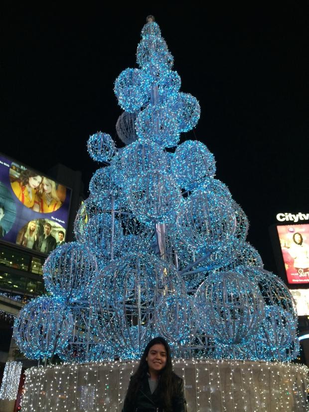 Decoração na Yonge Dundas Square