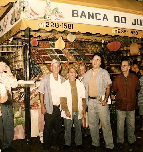 """Tony Ramos na Barraca do Juca, nas gravações da novela """"A próxima vítima"""""""