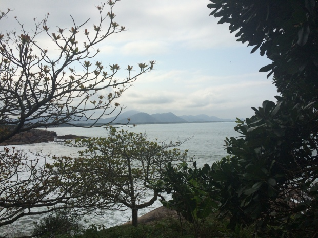 Mar visto da trilha
