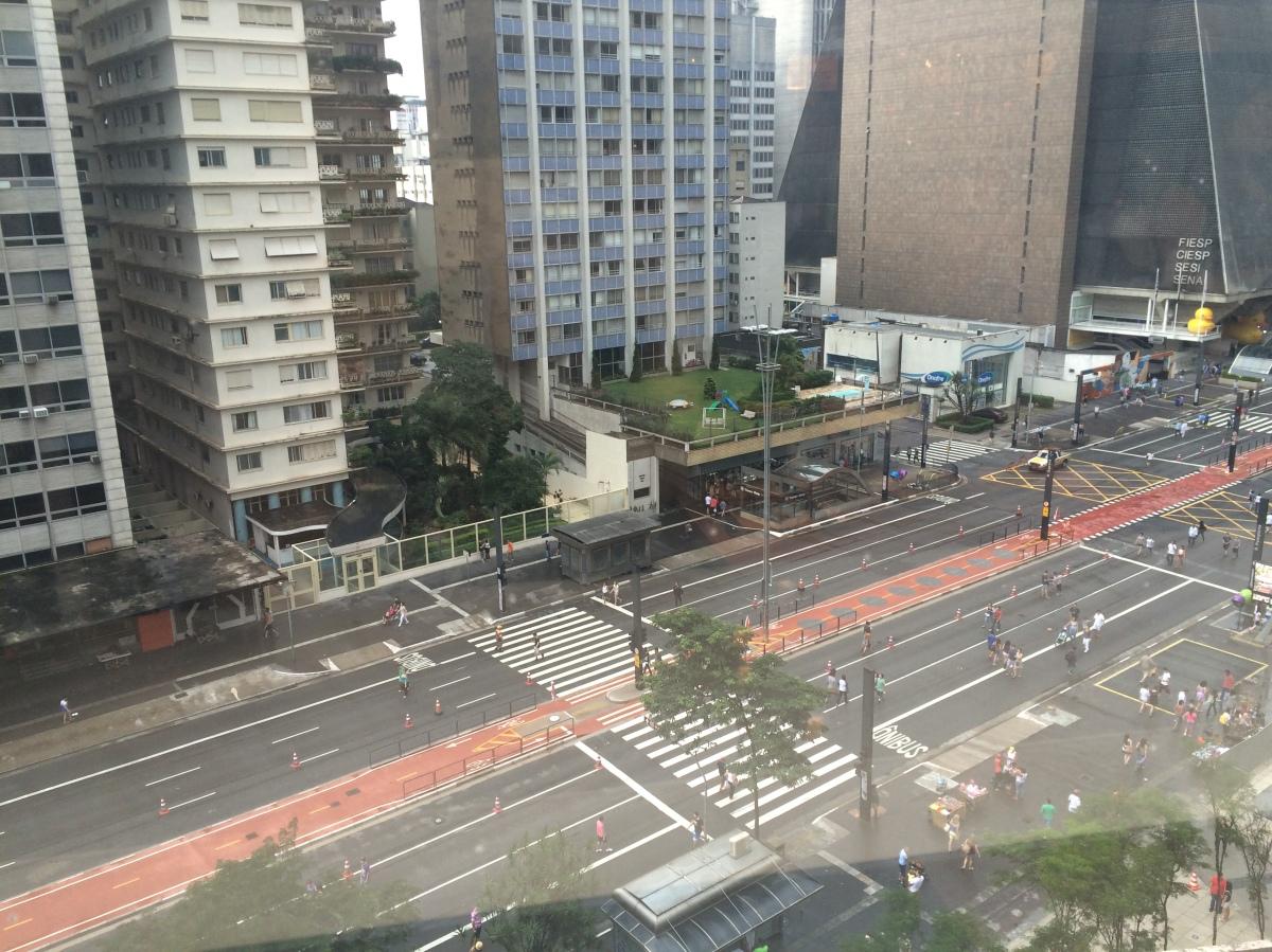 Almoçando com uma linda vista no Outback Cidade de São Paulo